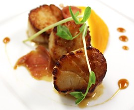 Pan-seared scallops. - MABEL SUEN