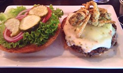 A green-chile cheeseburger at 5-Star Burgers, which opened in Clayton in October. - EVAN C. JONES