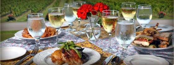 DINING AT CHAUMETTE WINERY | COURTESY OF CHAUMETTE WINERY