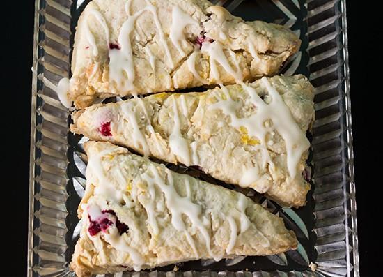 Cranberry-orange scones. | Photos by Mabel Suen
