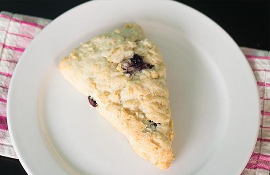 Blueberry scone.