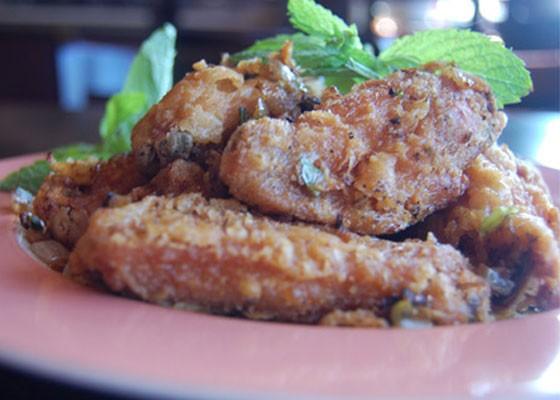 Padilla's butter-garlic chicken wings. | Cheryl Baehr