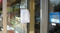 Sansai, too, has a sign on its door redirecting customers.