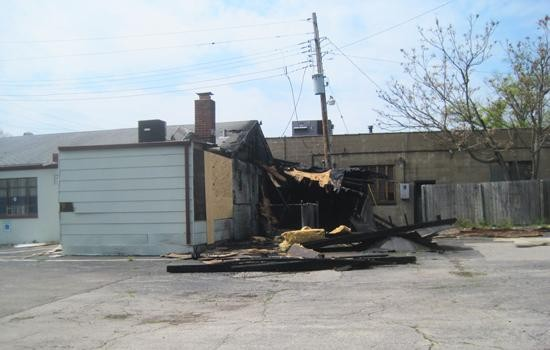 Fire damage at Kramer's Olive Bistro in University City - IAN FROEB