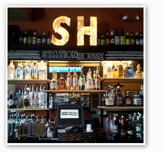 The bar at Station House. | Station House Bar & Beer Garden