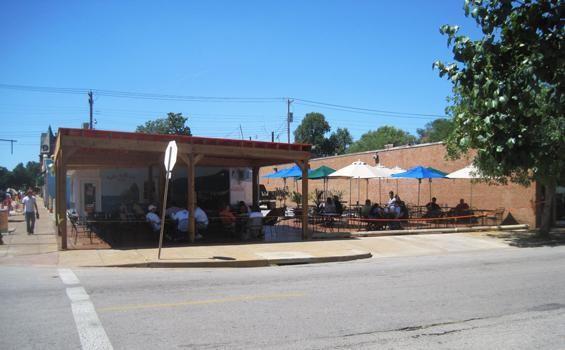 The renovated patio at La Vallesana on Cherokee Street - IAN FROEB