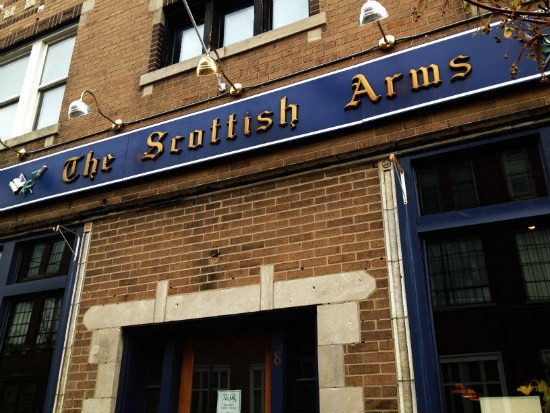Outside the Scottish Arms. - CAILLIN MURRAY