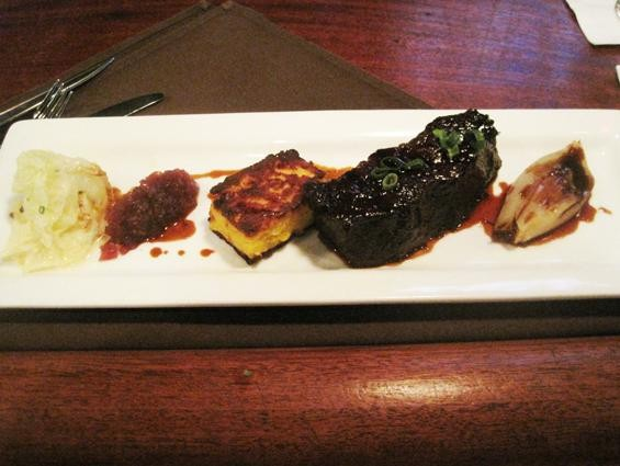 The root beer-braised beef short rib at Monarch - IAN FROEB