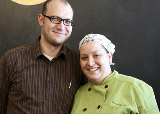 Cassy Vires, right, at Home Wine Kitchen.   Jennifer Silverberg