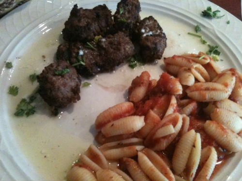 Beef spedini lunch special at Ricardo's Italian Cafe - ROBIN WHEELER