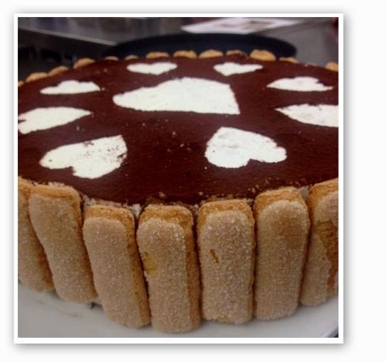 A Valentine-ready tiramisu crepe cake at Crepes, etc.   Crepes etc.