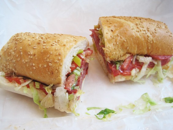 "The ""7th Street Sicilian"" Po' Boy at Blues City Deli - IAN FROEB"