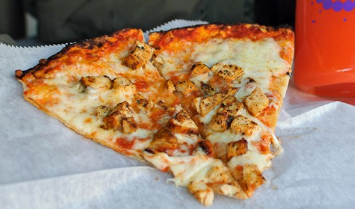 Joanie's Pizzaria prepared a special combo for the Taste of Soulard event -- a Blackened Chicken Creole Pizza. Owner and cook Joanie Thomas says it's made with a homemade Creole sauce, fresh blackened chicken and the pizzeria's famous cheese. She says there's no similar pizza in the city. See more photos here. - PHOTO: JASON STOFF