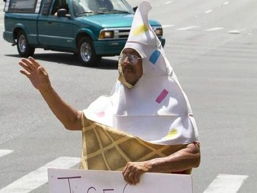 Stop screaming! This ice cream cone is not a member of the KKK. - OCALA.COM