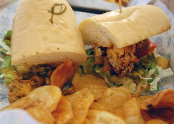 The restaurant's namesake is a fried oyster poorboy.   Nancy Stiles