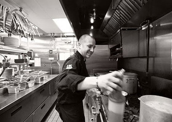 Ivy Magruder in the Kitchen at Gamlin Whiskey House. | Jennifer Silverberg