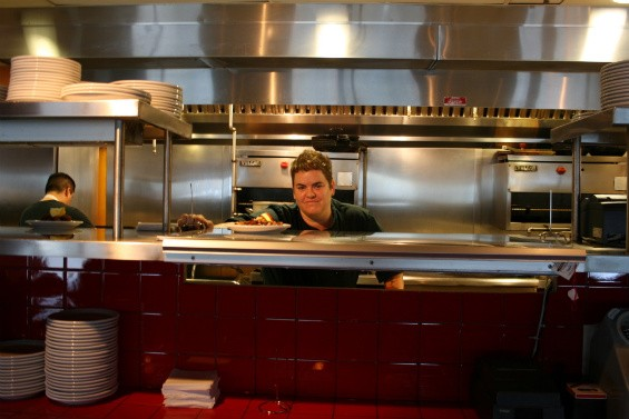 Executive Chef Grace Dinsmoor in her kitchen at Modesto. - CHRISSY WILMES