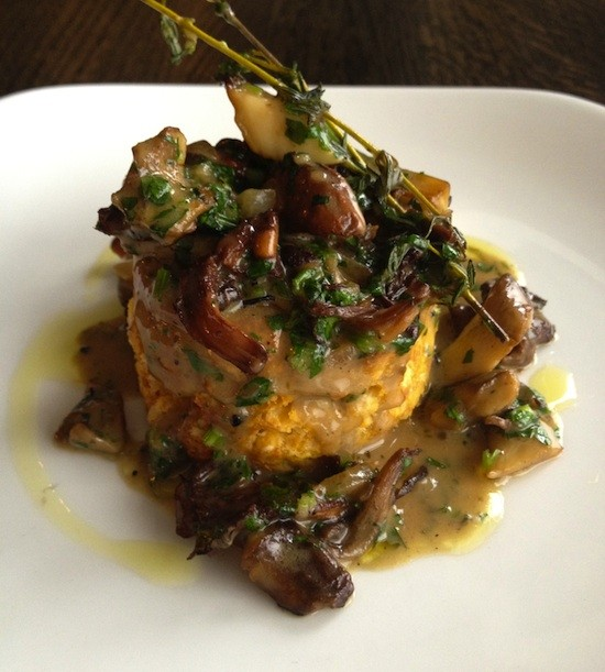 Sweet Potato Biscuits and Wild Mushroom Gravy - BLOOD AND SAND