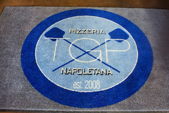 Logo at the entrance.