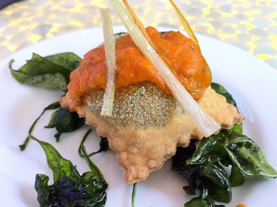 """""""Spinach and Goat Cheese Ravioli."""" - BRYAN PETERS"""