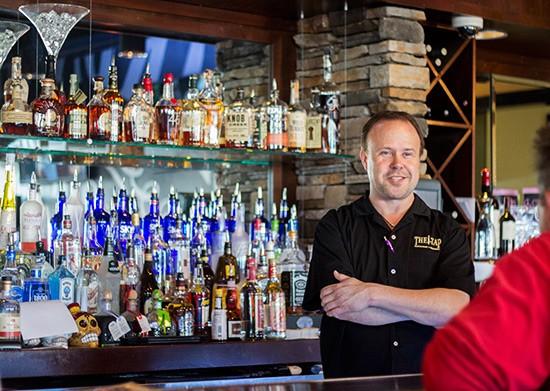 Proprietor Jerry Berhorst behind the bar.