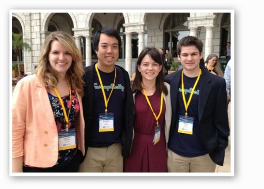 Farmplicity co-founders Lauren Ortwein, Andrew Lin, Jolijt Tamanaha and Drew Koch. - | Farmplicity