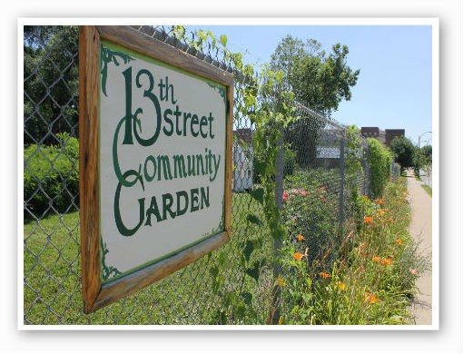 Community garden, only one block away   Pat Kohm
