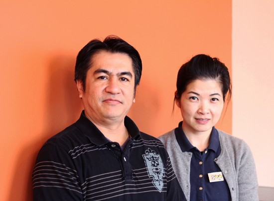 Chef Nelson Padilla and manager Li Ping Fan.