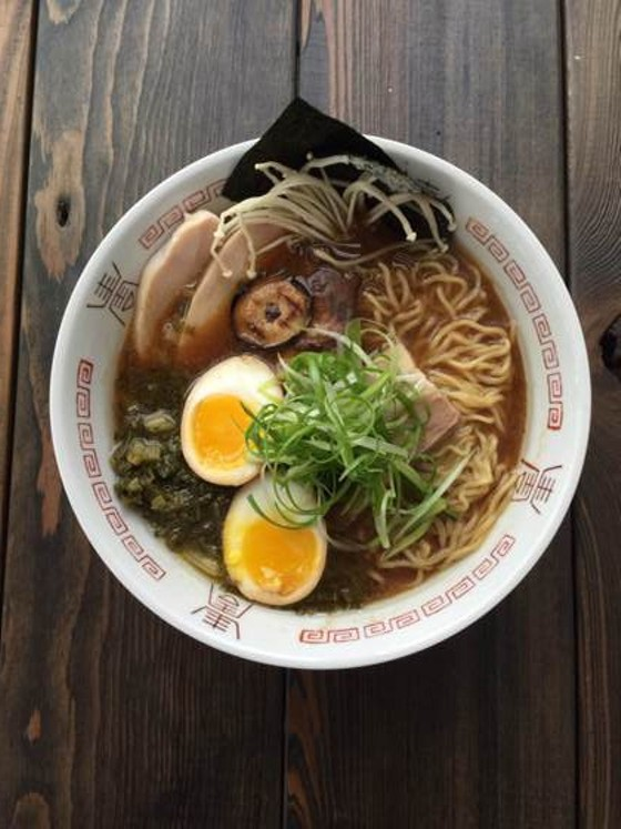 CHICKEN AND MUSHROOM RAMEN AT DEATH IN THE AFTERNOON.   ADAM FRAGER