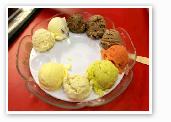 "How about a ""flight"" of ice cream? 