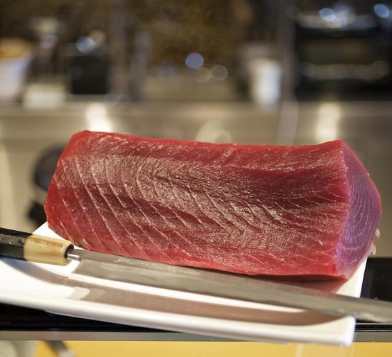 Tuna in the kitchen of Yagu Asian Fusion - JENNIFER SILVERBERG