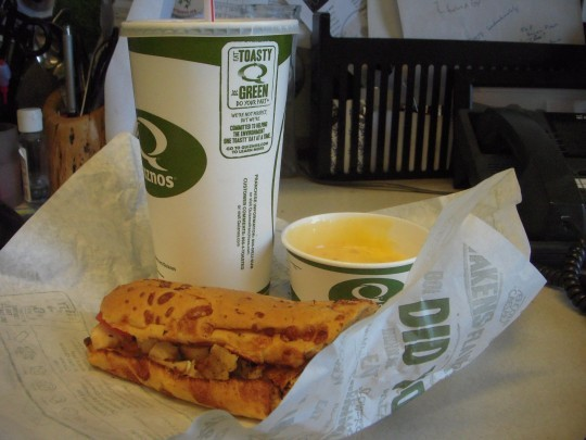 They say chicken bacon dipper; we say totally gratuitous nacho cheese sauce. Let's call the whole thing off!