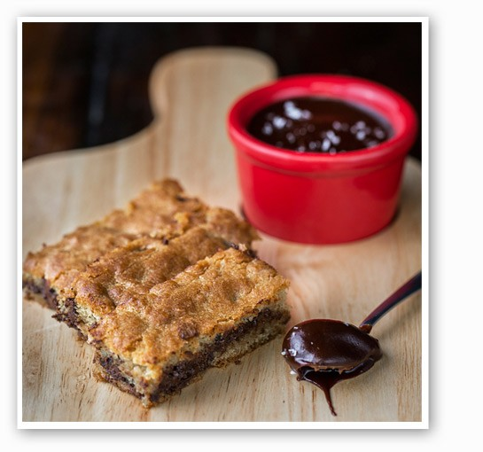 Chocolate chip bars with double chocolate pudding and sea salt at Table. | Jennifer Silverberg