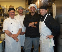 Chef Aramburu with members of his staff - EMILY WASSERMAN
