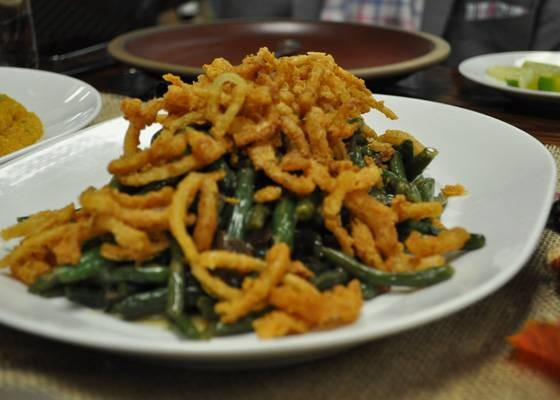 Green bean casserole at Cielo. | Nancy Stiles