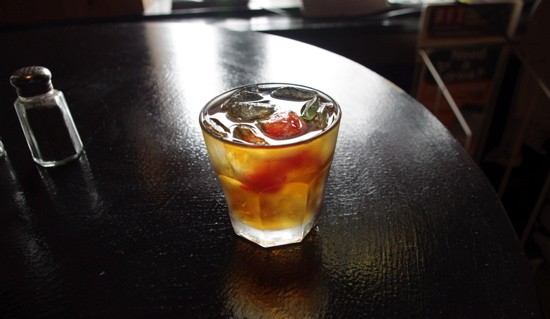 Easy on the sweet vermouth: A classic Manhattan cocktail, mixed by Ryan Wilmsmeier of the Bleeding Deacon Public House in south St. Louis. - ALISSA NELSON
