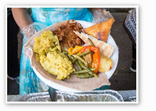 A colorful plate at the Festival of Nations. | Theo Welling