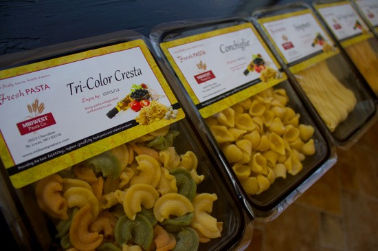 Midwest Pasta Company varieties include tri-color cresta, conchiglie, spaghetti, red pepper vermicelli and whole wheat linguini. - MABEL SUEN