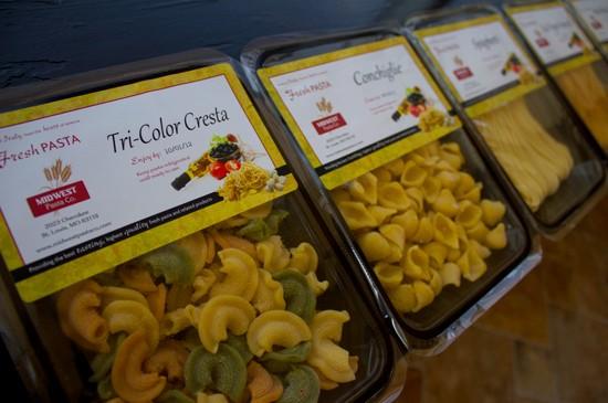 Midwest Pasta Company varieties include tri-color cresta, conchiglie, spaghetti, red pepper vermicelli and whole wheat linguini. - MABEL SUEN