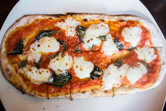 Margherita-style pizza. | Photos by Mabel Suen
