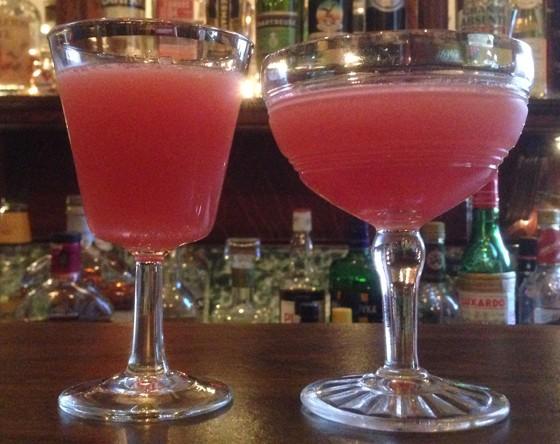 Two Jack Rose cocktails.   Patrick J. Hurley