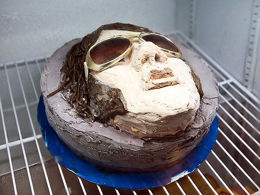 Just a hunka hunka frozen love: This Elvis cake is made from -- what else? -- peanut butter and banana. - PHOTO: STEW SMITH