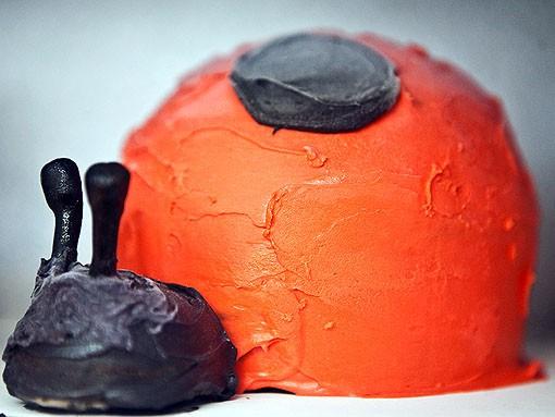 Chocolate ladybug with chocolate icing. Awwww. - PHOTO: STEW SMITH