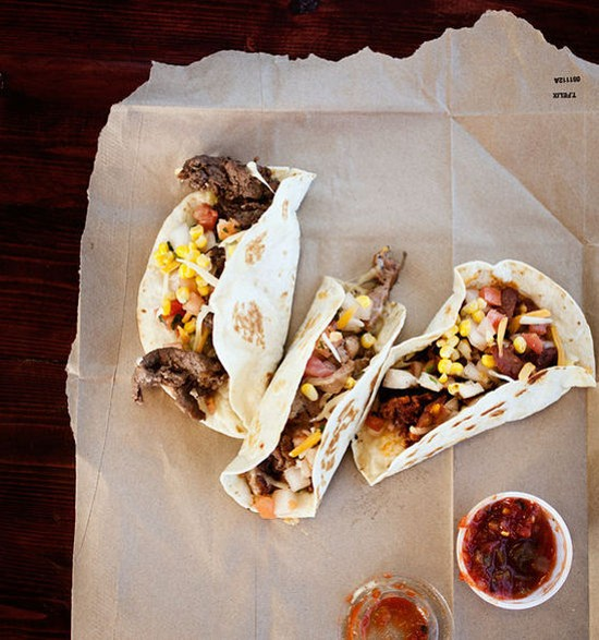 Korean barbecue tacos at Kim Cheese - JENNIFER SILVERBERG