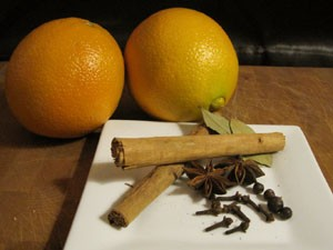 Oranges, juniper berries, cinnamon, bay leaves, jeez, can we just drink already? - KRISTIE MCCLANAHAN