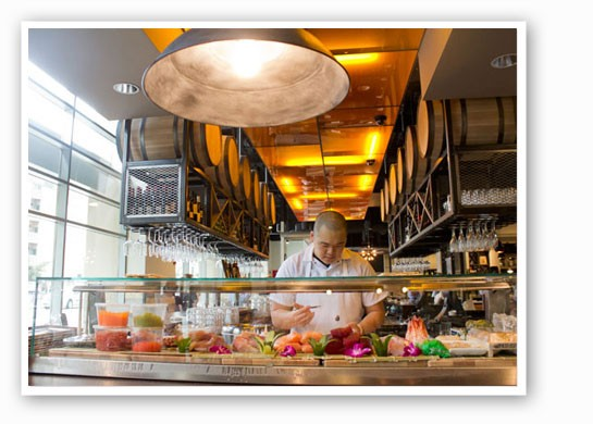 The sushi bar at 2013's winner, Central Table Food Hall. | Mabel Suen
