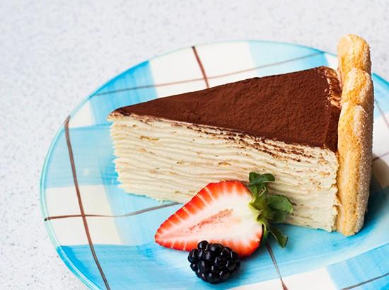 Tiramisu crepe cake. | Photos by Mabel Suen