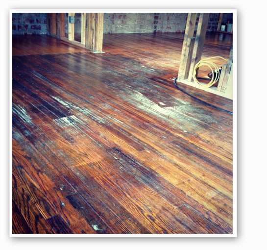 Rise's original hardwood floors. | Rise Coffee