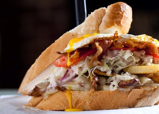 """One of the """"Shackwiches"""" at the Shack Pubgrub 