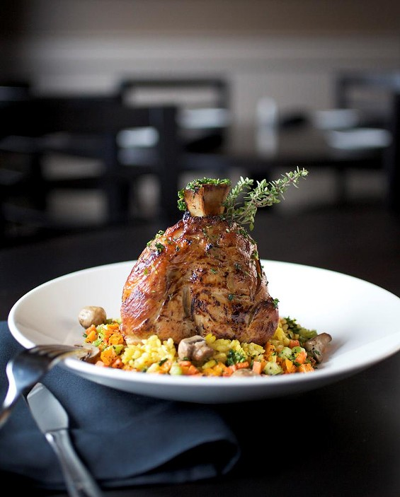 "The pork ""osso buco"" at Charlie Gitto's - JENNIFER SILVERBERG"
